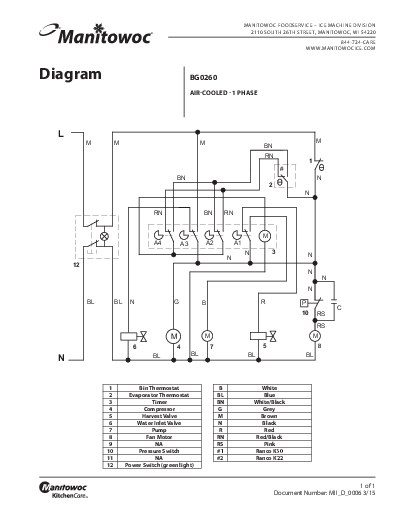 ice machine wiring diagram