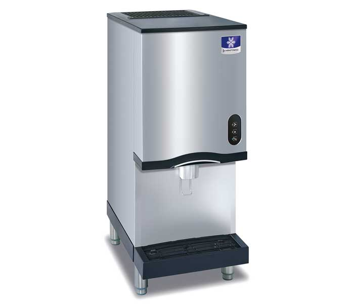 lb with icemaker reviews counter storage under km crescent crushed bah cube maker air bin cooled ice countertop